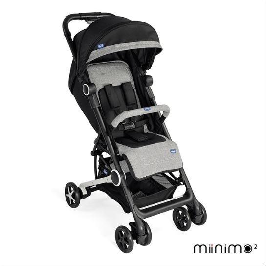 Carrinho Minimo Passeio Bebê Chicco Black Miinimo Compacto