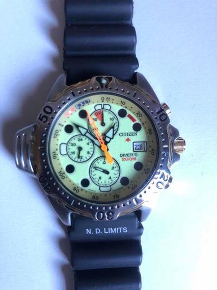 Relógio Citizen Aqualand Promaster 3745 Ay5024-07w Natulite