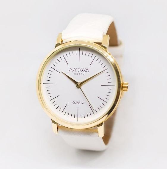 Relógio Feminino Nowa Dourado Nw1407k Original Nf + Brinde