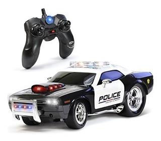 Coche Policial De Control Remoto Kidirace Rc P