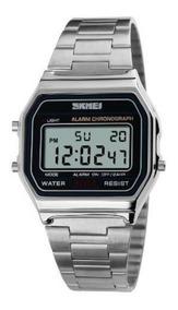 Relógio Skmei Digital 1123 Original Prata