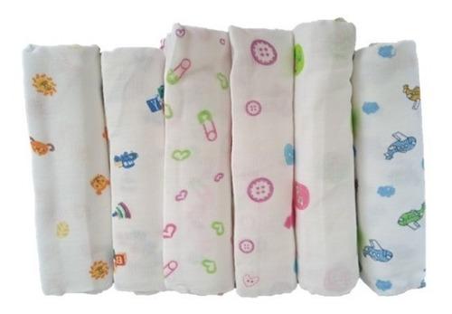 Set De 6 Pañales De Tela Para Bebes /niños/lanitas