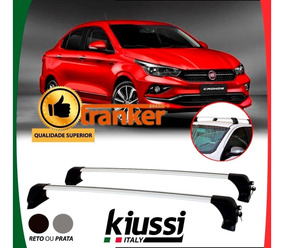 Rack Teto Longarina Fiat Cronos - Kiussi Prata Antifurto