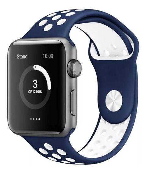 Pulseira Com Furos Compatível Com Apple Watch Séries E Iwo