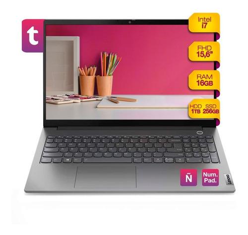 Imagen 1 de 6 de Notebook Thinkbook Intel I7 16gb Fhd Ssd256gb Hdd 1tb Win10
