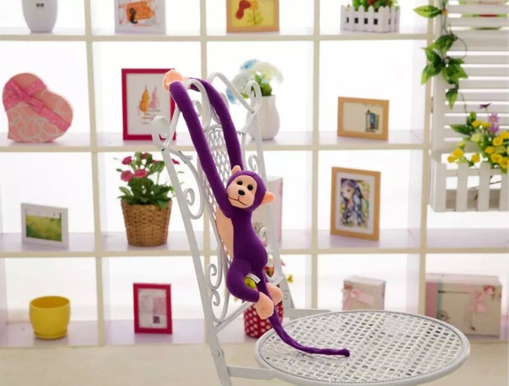 Macacos Coloridos De Pelúcia - 60cm Macaquinhos Pendurados