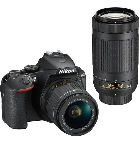 Nikon Reflex D5600 Kit 18-55mm+70-300mm Única Con Garantía Oficial