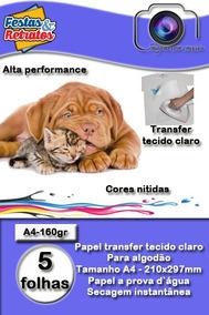 Papel Transfer P/tecido Claro 160g A4 C/10fl