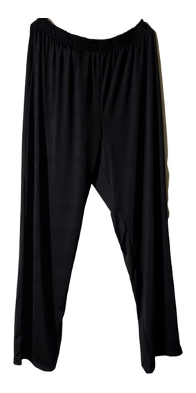 Pantalon De Seda Fria Liso Negro Talle 4 A 12