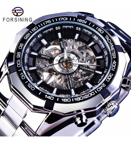 Relógio Forsining Original Masculino Automático Esqueleto