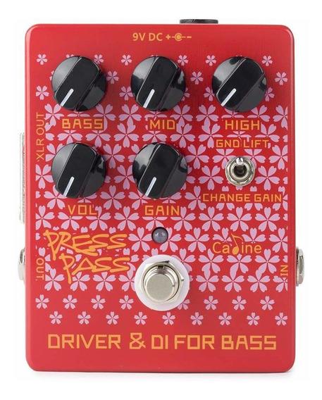 Pedal De Guitarra Caline Press Pass Bass Driver Contrabaixo + Nf + Garantia