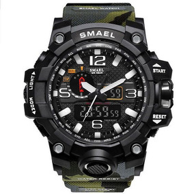 Relógio Esportivo Militar Shock Smael 1545 Camuflado + Caixa