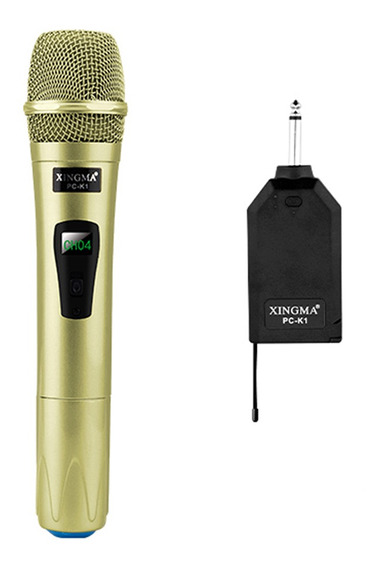 Sistema De Microfone Sem Fio Handheld Led Mic Speaker Com