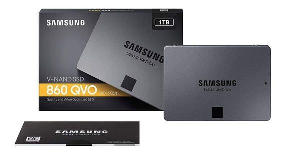 Ssd Samsung 860 Qvo 1tb Sata 6gb/s V-nand 2,5 Sata Iii Lacr
