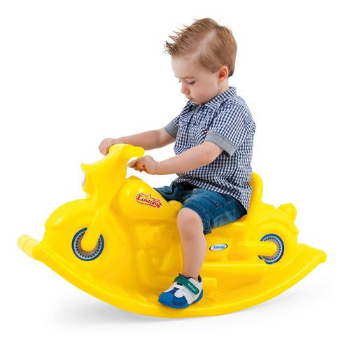 Moto Mecedora Infantil Reforzada Amarillo