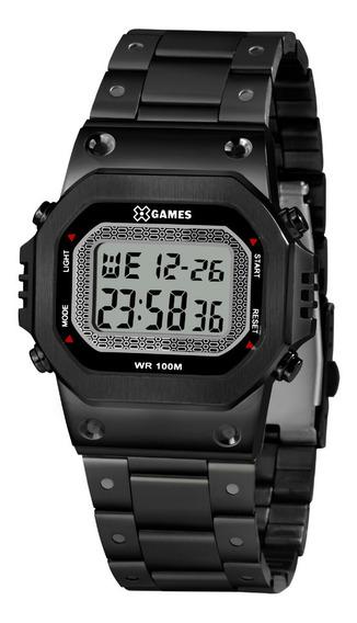 Relógio Masculino Preto Digital Quadrado X-games Original+nf