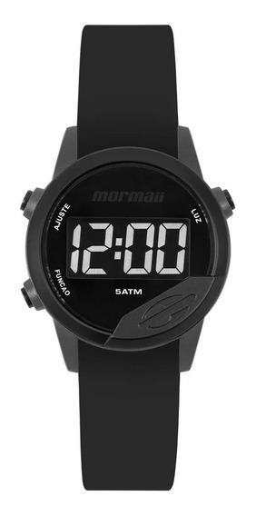 Relógio Mormaii Mude Unissex Digital Mo4100ac/8p Preto + 2 Pulseiras