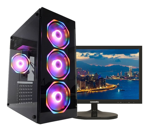 Pc Top + Monitor 21.5 I5 9400 16gb Hd1tb Ssd 120gb 1650 Wifi