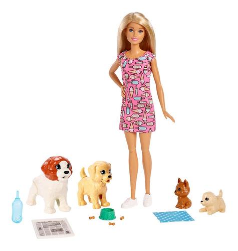 Barbie Set De Guardería De Perritos Nueva Y Original Mattel
