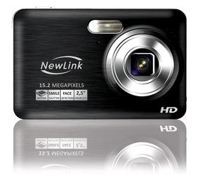 Câmera Digital Hd 15.2 Megapixels Cd108 Newlink