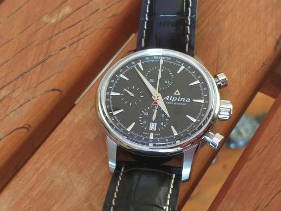 Relógio Alpina Pilot 42mm Calibre 7750 Automático Completo