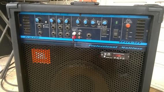 Caixa Amplificada Oneal Ocm 600 Professional Multiuse