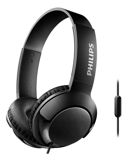 Fone Philips Shl3075 Bass Headphone Microfone Preto