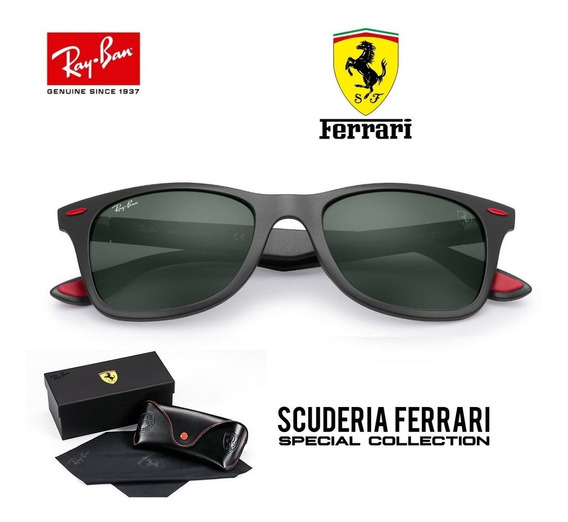 Ray Ban 4195 Wayfarer Litforce Ferrari Original + Brinde