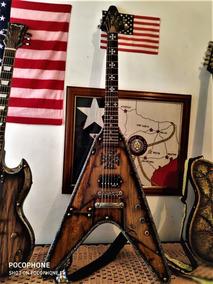 Guitarra Fly V Castle Gates Custom (hmc)troco