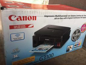Impressora Multifuncional Pixma Canon G3100 Molhado Defeito