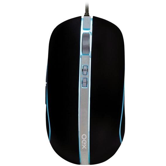 Mouse Usb Gamer Oex Hybrid 5000dpi Ms310 Metal Rgb