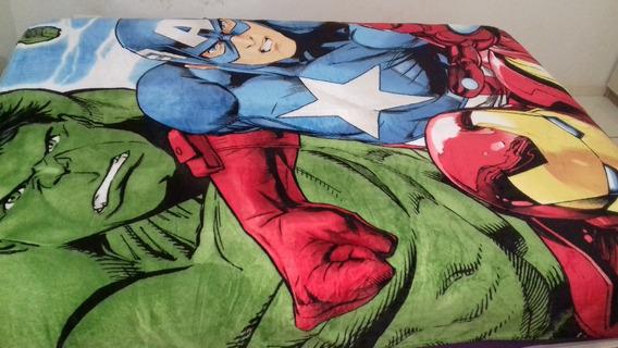 Manta Cobertor Personagem Avengers Casal Microfibra