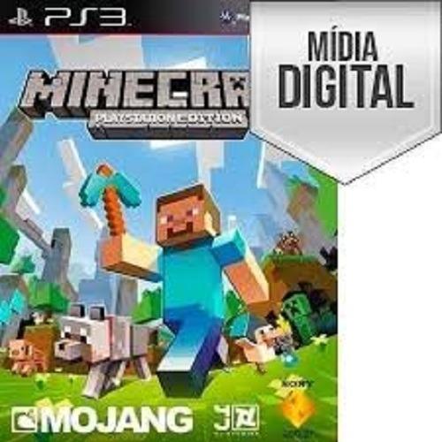 Jogo Minecraft - Ps3 - Psn - Original Em Midia Digital