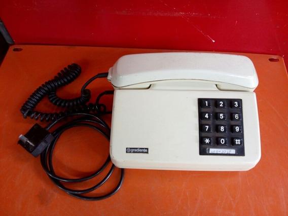 Antigo Telefone De Mesa Gradiente Linda Peça Para Decoração