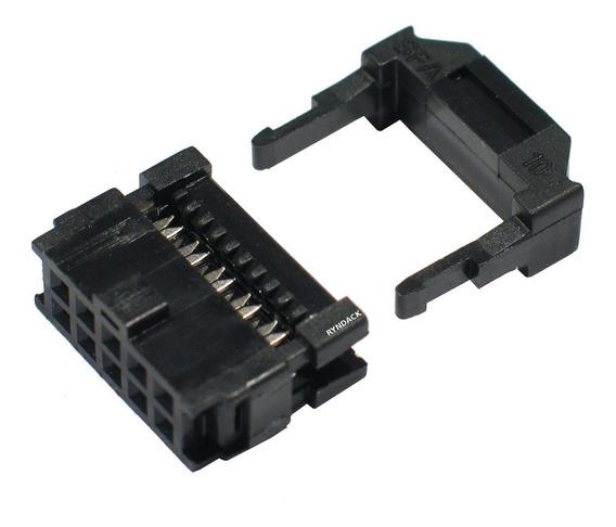 20 Peças * Conector Latch Idc 10 Vias Para Flat Cable