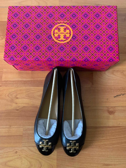 Flats Tory Burch Negras 5 Mxn (8 Usa) Original 100%