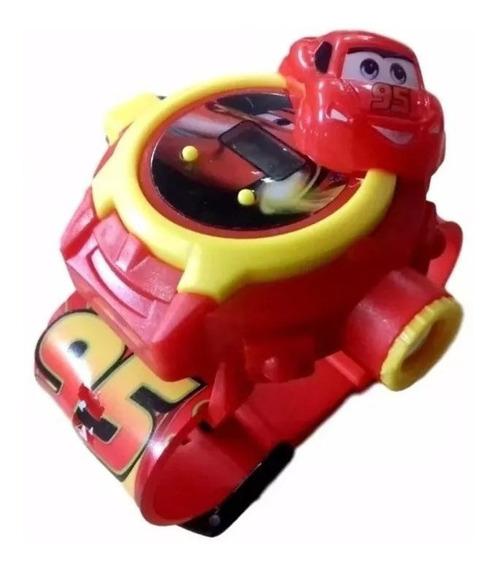Relogio Carros Corrida Projetor De Luz 24 Imagens Infantil