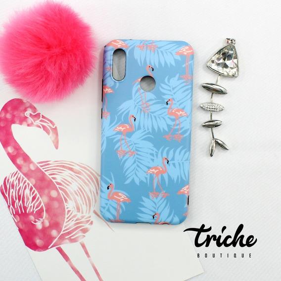 Funda Case Flamingos Azul Dama Summer Verano Flamenco Huawei P20 Lite
