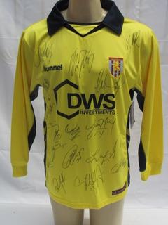 Camisa Futebol Aston Villa Inglaterra 05-06 Manga Longa Bb