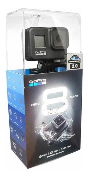 Gopro Hero 8 Black Hypersmooth 2.0 + Suporte Peito Gchm30