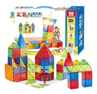 Juguete Block Magnético Armable Didáctico Envío 60 Piezas