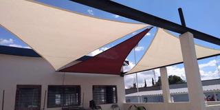 Malla Sombra Arquitectónica 95%sombra, Kit 3 Triángulos