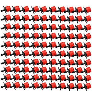 Gotero Ajustable Rojo De 0-70 L/h, 500 Pzas Con Pinchador