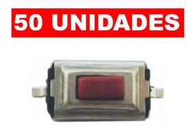 Kit 50 Botao Interrutor Smd Tactil P/ Chaves E Controles
