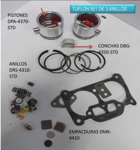 Kit Reparación Compresor De Aire Tuflo 501 3 Anillos Mack.