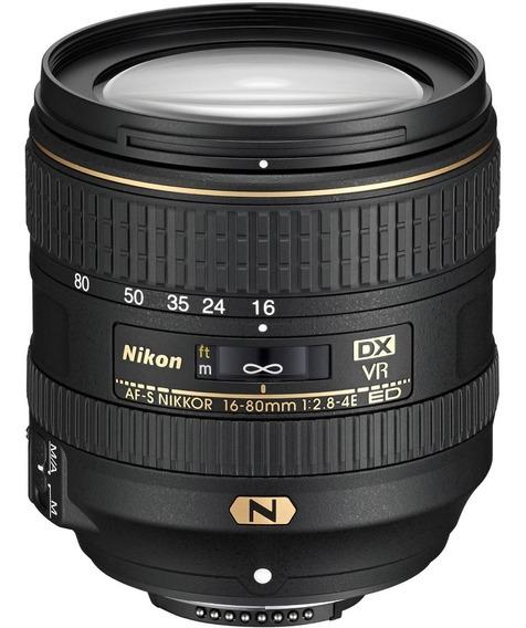 Lente Nikon 16-80mm F/2.8-4e Vr - 12x Sem Juros