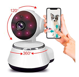 Camara Ip Dog Interior Wifi Gira 360 Grados Habla Y Escucha