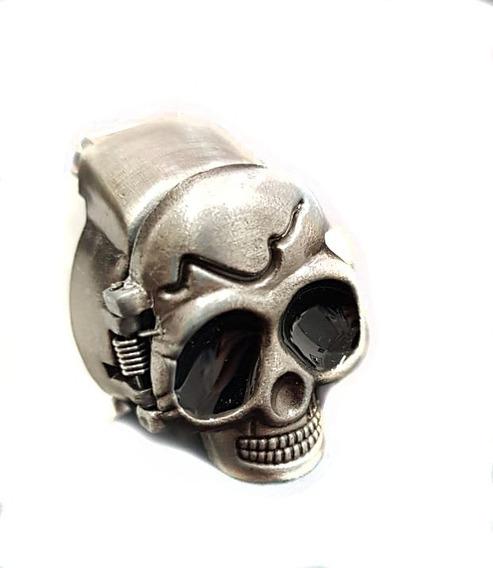 Lote De 10 Anillo Cráneo Con Reloj, Ajustable Moderno Unisex
