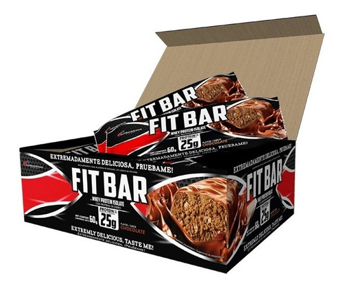 Fit Bar 12 Barras De Proteína Caja Upn Fitbar