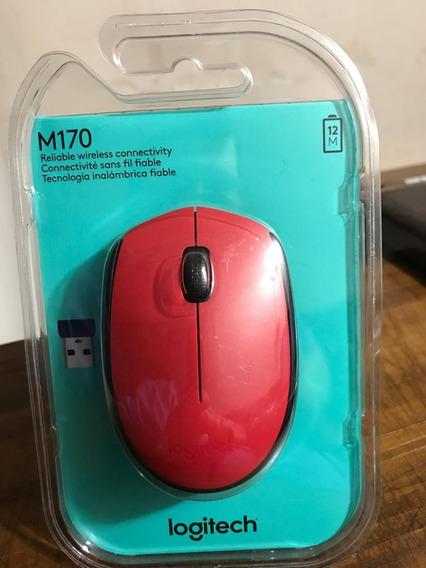 Mouse Logitech M170 Wireless -vermelhor (original / Lacrado)